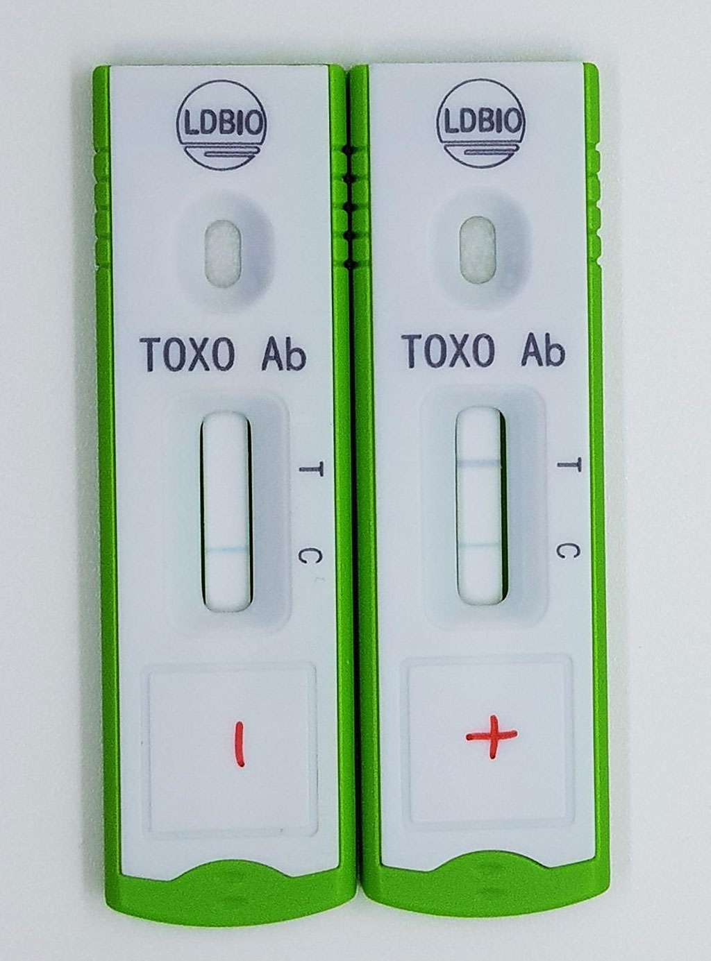 Image: TOXOPLASMA ICT IgG-IgM is a unitary qualitative rapid test based on the immune chromatography technology (lateral flow), allowing the simultaneous detection of both IgG and IgM class anti-Toxoplasma antibodies in human sera (Photo courtesy of LDBIO DIAGNOSTICS)