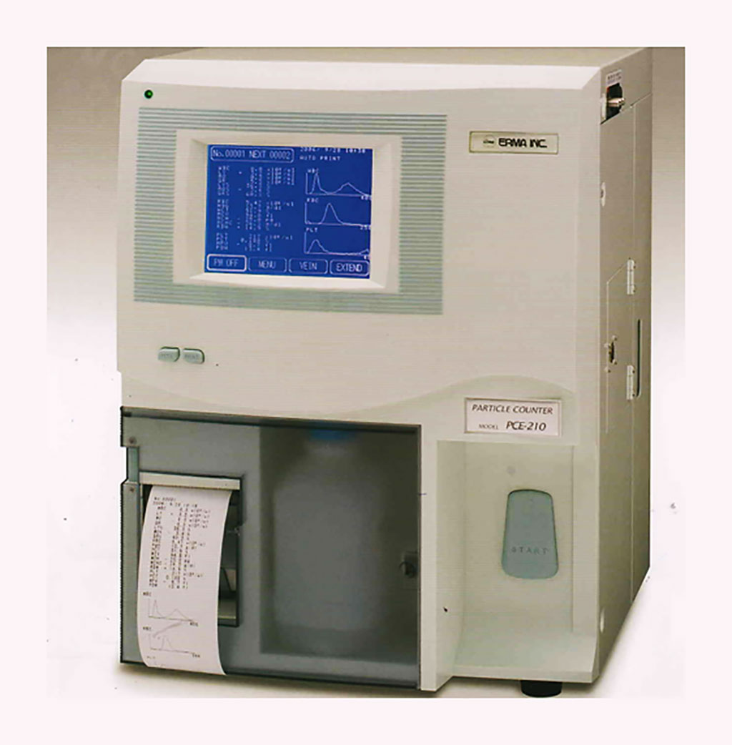 Image: The ERMA PCE-210N fully automatic cell counter (Photo courtesy of ERMA)