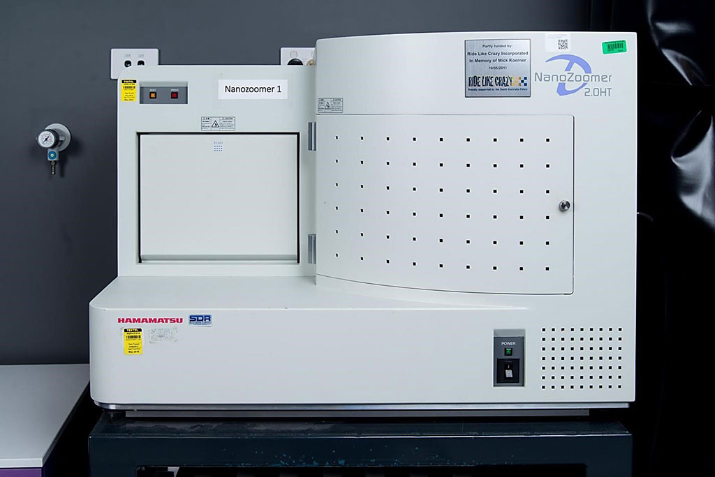 Image: The Hamamatsu Photonics Nanozoomer 1 Digital Slide Scanner (Photo courtesy of University of Adelaide)
