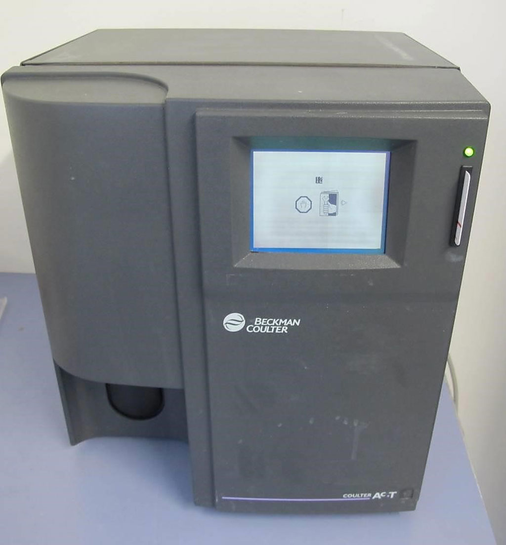 Image: The Beckman Coulter AcT Diff automatic cell counter (Photo courtesy of Beckman Coulter)