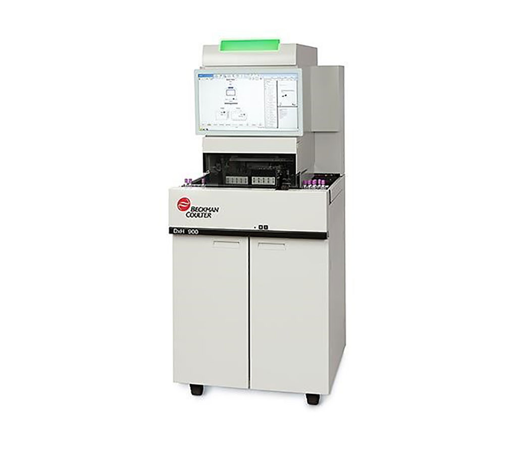 Image: The DxH 900 hematology analyzer enables the high-volume laboratory to achieve RBC, PLT and WBC differentials through near native-state cellular characterization (Photo courtesy of Beckman Coulter)
