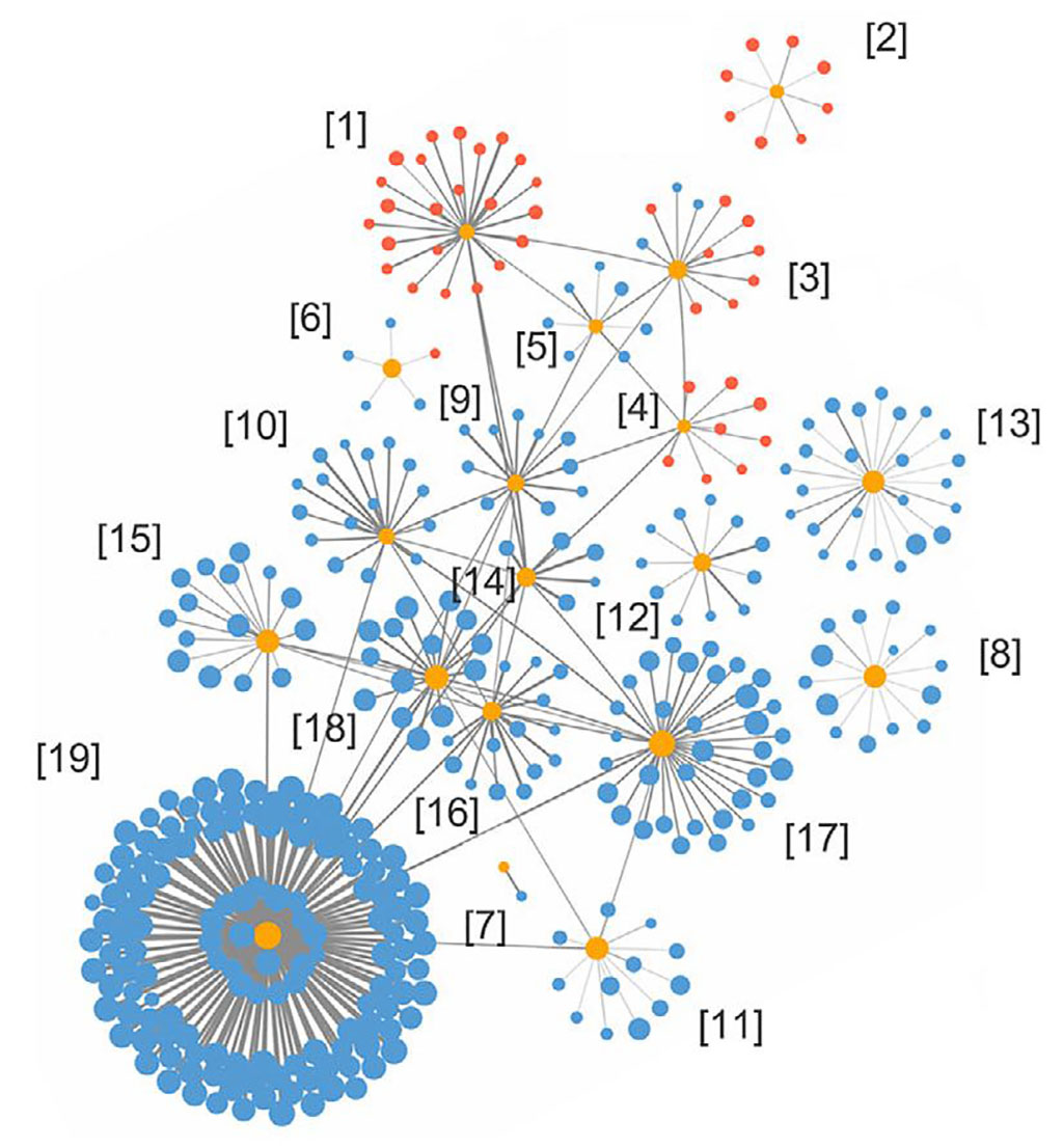 Image: The proximity extension assay identified 19 plasma hub proteins (indicated as yellow dots in the figure) in AD patients, which were irregular compared to healthy people (Photo courtesy of Hong Kong University of Science and Technology)