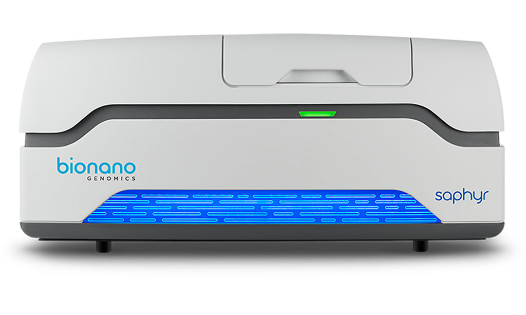 Image: The Bionano Genomics Saphyr instrument used for Optical Genome Mapping (Photo courtesy of Bionano Genomics)