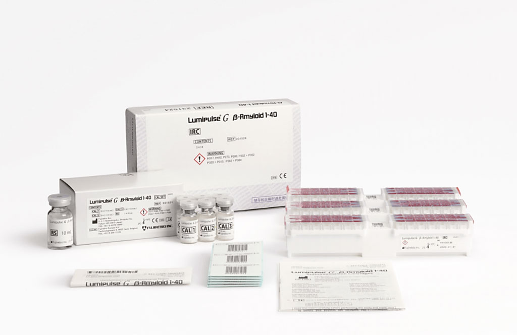 Image: The Lumipulse G β-amyloid 1-40 assay kit (Photo courtesy Fujirebio)