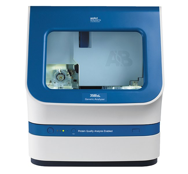 The Applied Biosystems 3500xL Genetic Analyzer (Photo courtesy of Thermo Fisher Scientific).