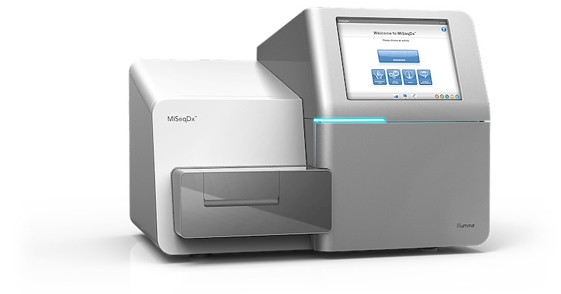 The MiSeqDx System is the first FDA-regulated, CE-IVD-marked, NGS platform for in vitro diagnostic (IVD) testing (Photo courtesy of Illumina)