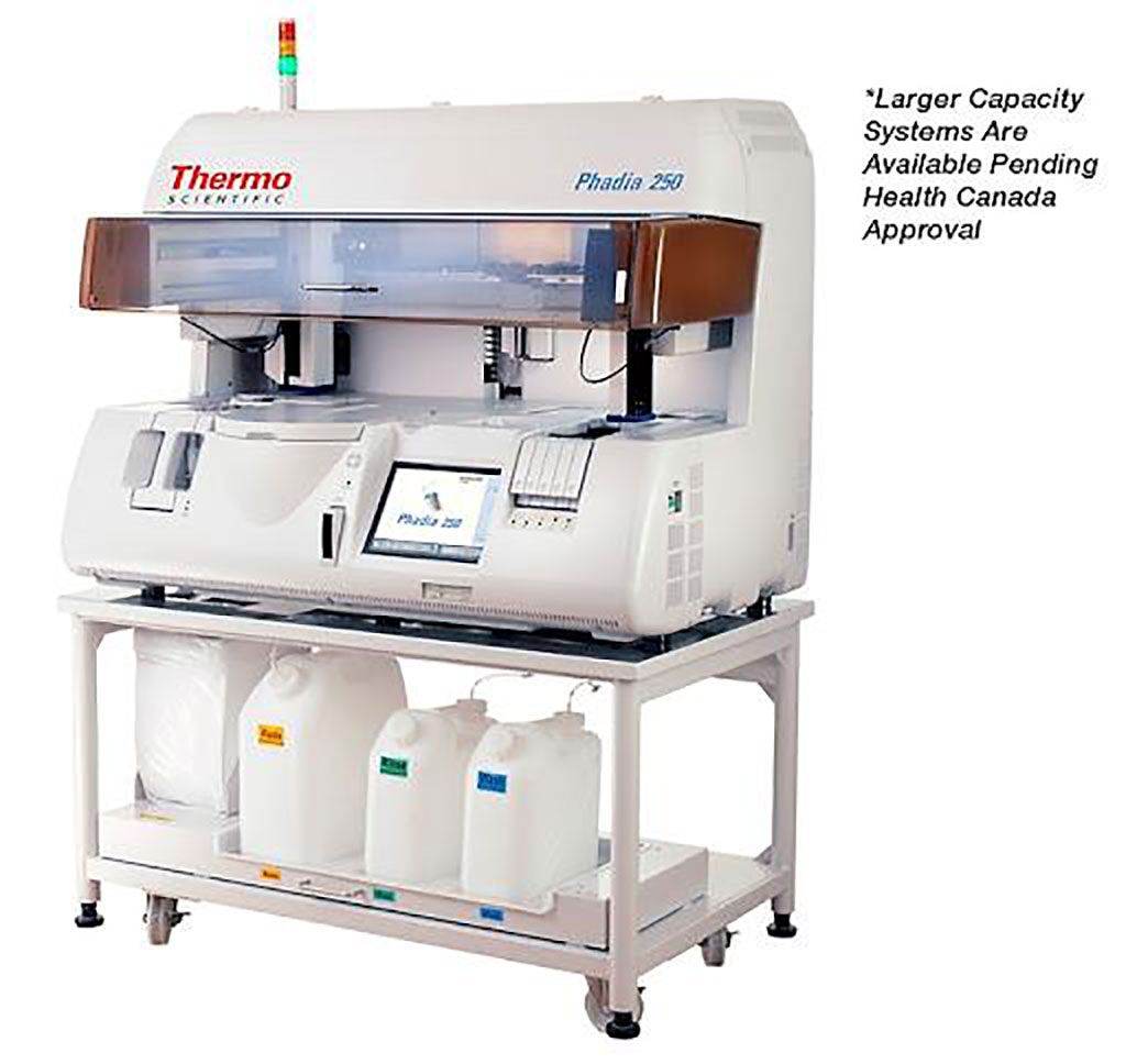 Image: The Phadia  250 Immunoassay Analyzer: Automated processing of EliA and ImmunoCAP assays (Photo courtesy of Thermo Fisher Scientific).