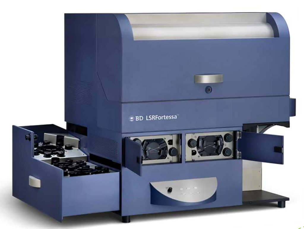 Image: BD LSRFortessa is a high-end cell analyzer. It is equipped with four lasers allowing for up to 16 colors (18 parameters) analysis (Photo courtesy of ETH Zurich)