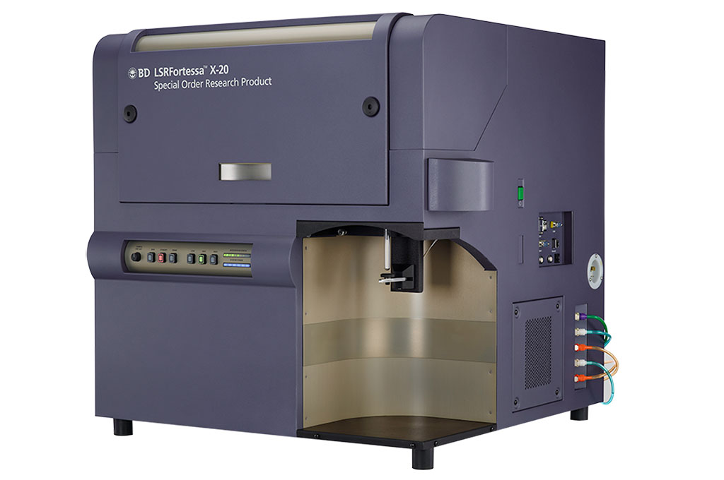 Image: The BD LSRFortessa X-20 Cell Analyzer can be configured with up to five lasers to detect up to 20 parameters simultaneously to support ever increasing demands in multicolor flow cytometry (Photo courtesy of BD Biosciences)