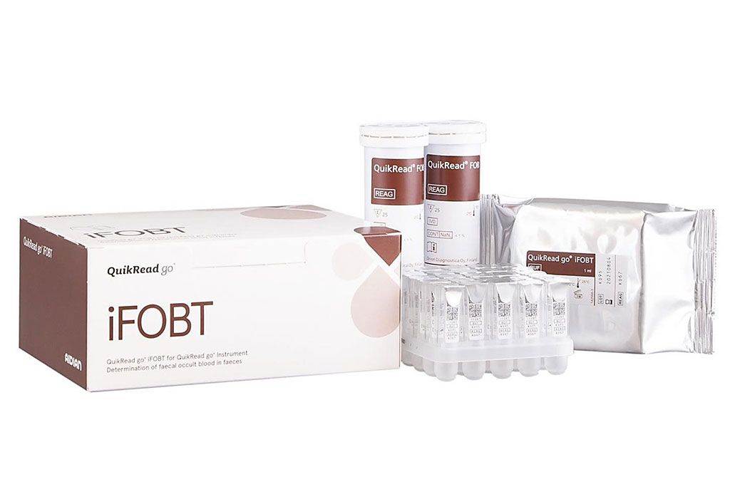 Image: The QuikRead go iFOBT is an immunochemical fecal immunochemical test for detection and quantification of human hemoglobin in feces in case of suspected bleeding from the lower gastrointestinal tract (Photo courtesy of Aidian)