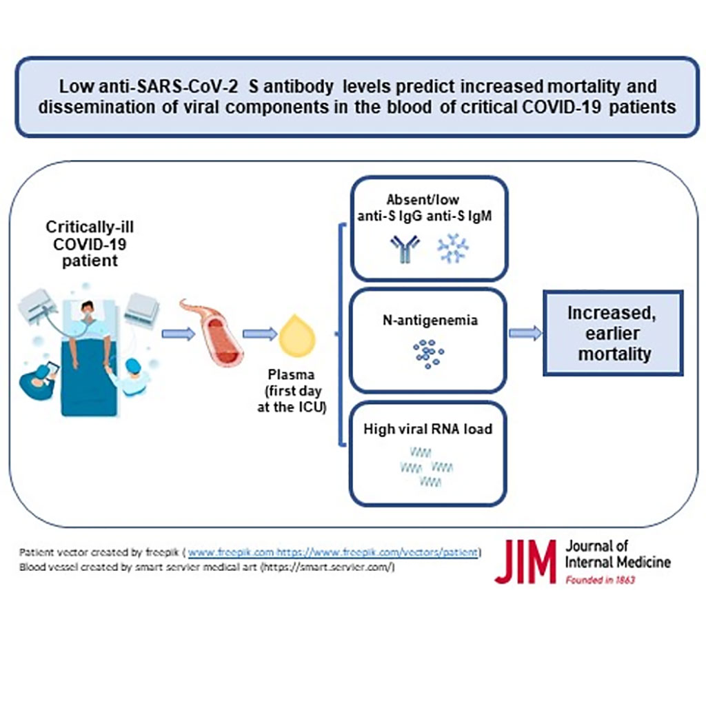 Image: Low anti-SARS-CoV-2 S antibody levels predict increased mortality and dissemination of viral components in the blood of critical COVID-19 patients (Photo courtesy of Instituto de Salud Carlos III)