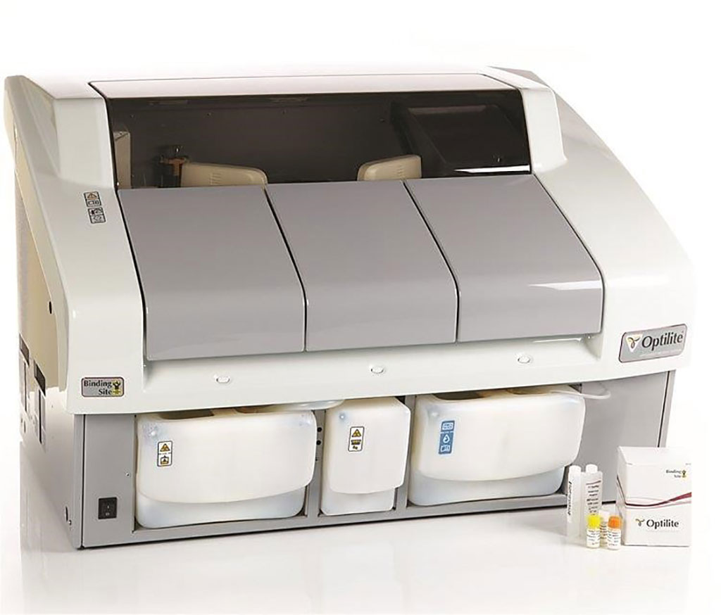 Image: The Optilite Clinical Chemistry Protein Analyzer (Photo courtesy of The Binding Site)