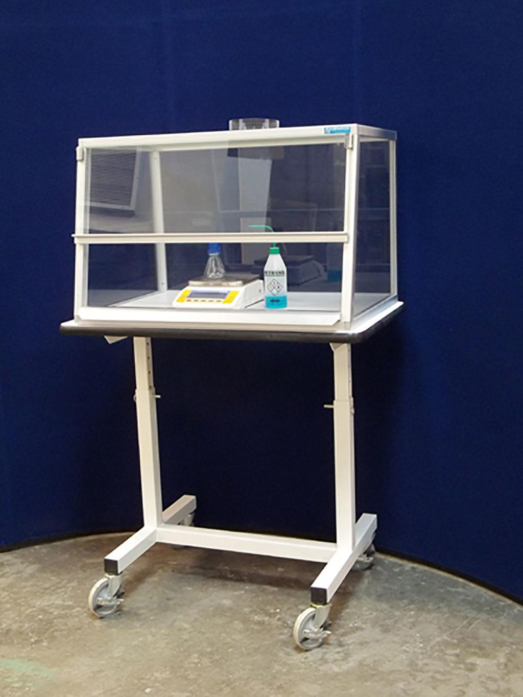 Image: VSE Cat. No. 84800 with optional mobile table and phenolic work surface (Photo courtesy of HEMCO Corporation)