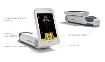 Image: The Accuro handheld ultrasound system (Photo courtesy of Rivanna Medical).