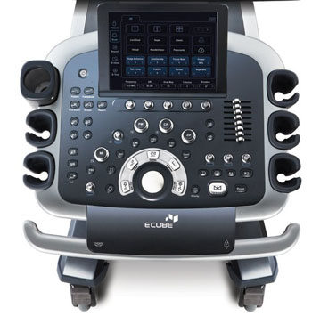 Image: The user controls and display of the new E-Cube 11 ultrasound system (Photo courtesy of Alpinion Medical Systems).