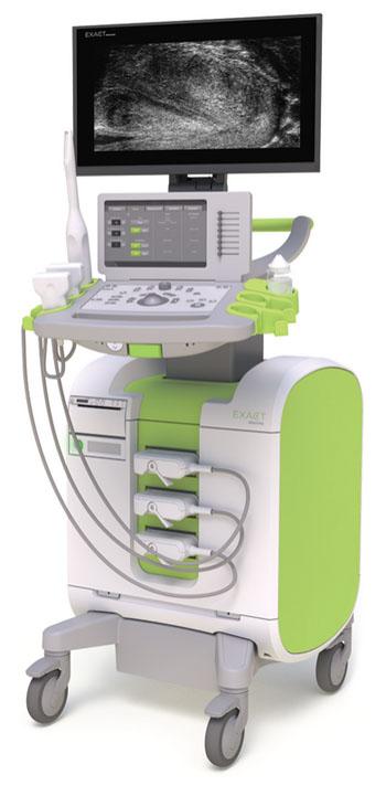 Image: The ExactVu micro-ultrasound imaging system (Photo courtesy of Exact Imaging).