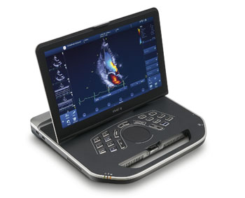 Image: The new compact portable battery-operated ultrasound system (Photo courtesy of GE Healthcare).