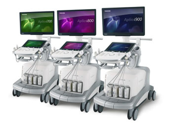 Image: The Aplio i-series of ultrasound devices for OB/GYN (Photo courtesy of Toshiba Medical).
