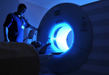 Image: An MRI scanner used for cancer diagnosis (Photo courtesy of Imperial College London).
