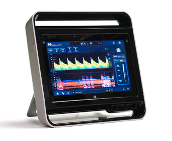 Image: The Lucid M1 transcranial doppler ultrasound system (Photo courtesy of Neural Analytics).