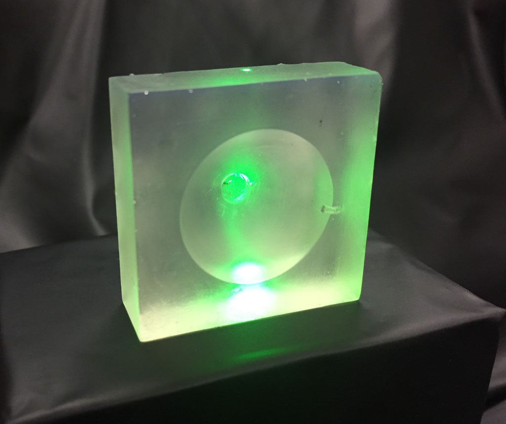 Image: A 3D printed resin lens for ultrasound overcomes the limitations of glass (Photo courtesy of NTU).