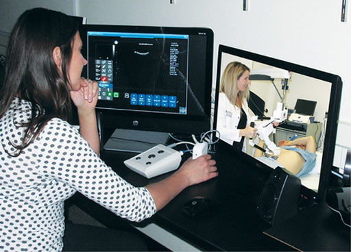 Image: The study showed that telerobotic ultrasound could enable sonographers and radiologists to perform exams remotely (Photo courtesy of RSNA).