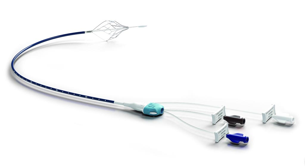 Image: The Bio2 Medical Angel catheter intended for PE prophylaxis in trauma patients, with contraindication to anticoagulation (Photo courtesy of Bio2 Medical).
