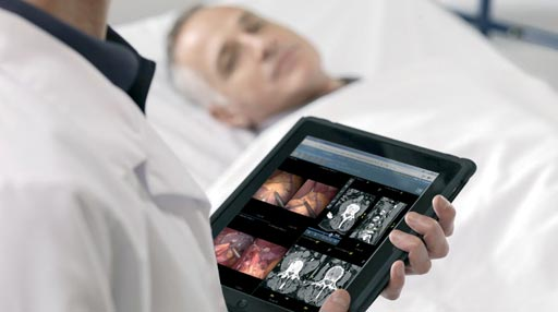 Image: Advanced clinical applications in use on the XERO universal viewer (Photo courtesy of Agfa Healthcare).