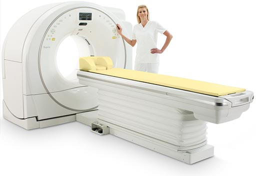 Image: The Supria True64 CT system (Photo courtesy of Hitachi Medical Systems Europe).