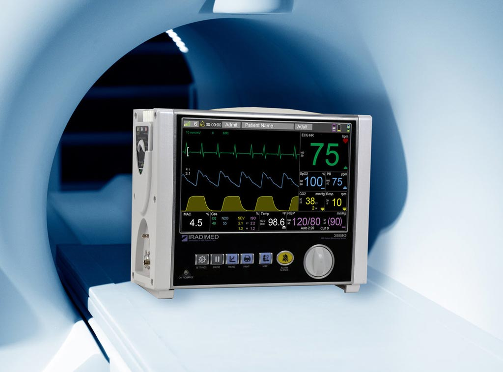 Image: The 3880 MRI compatible patient vital signs monitoring system (Photo courtesy of Iradimed).