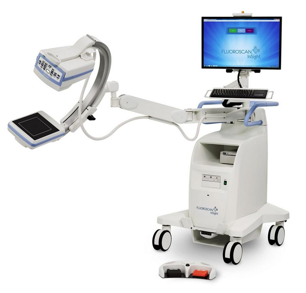 Image: The Fluoroscan InSight FD mini C-arm extremities imaging system (Photo courtesy of Hologic).