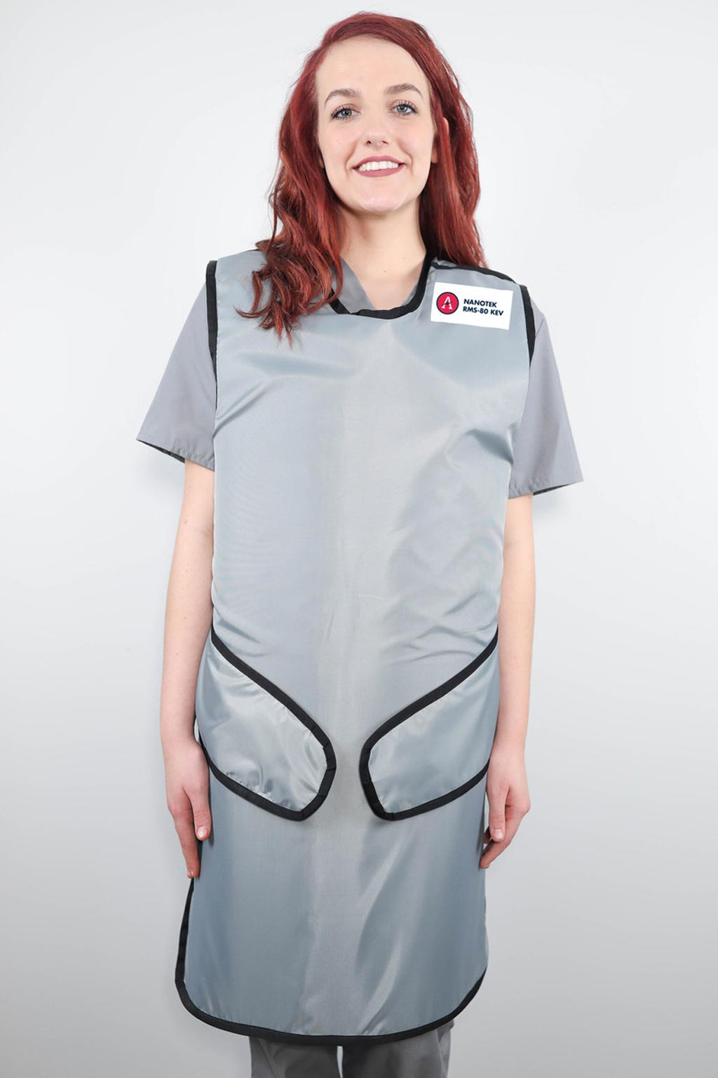 Image: The NanoTek x-ray apron uses polymers instead of lead (Photo courtesy of Artemis Shielding).