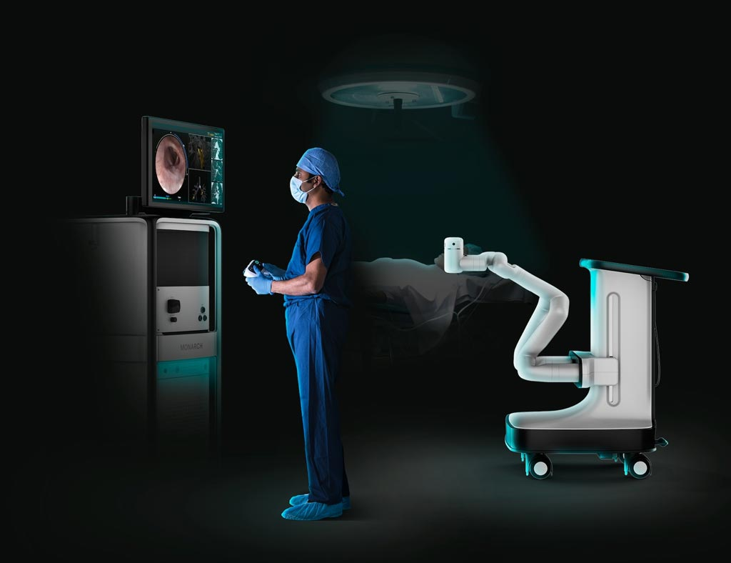 Image: An advanced bronchoscopy robotic platform helps diagnose lung cancer (Photo courtesy of Auris Health).