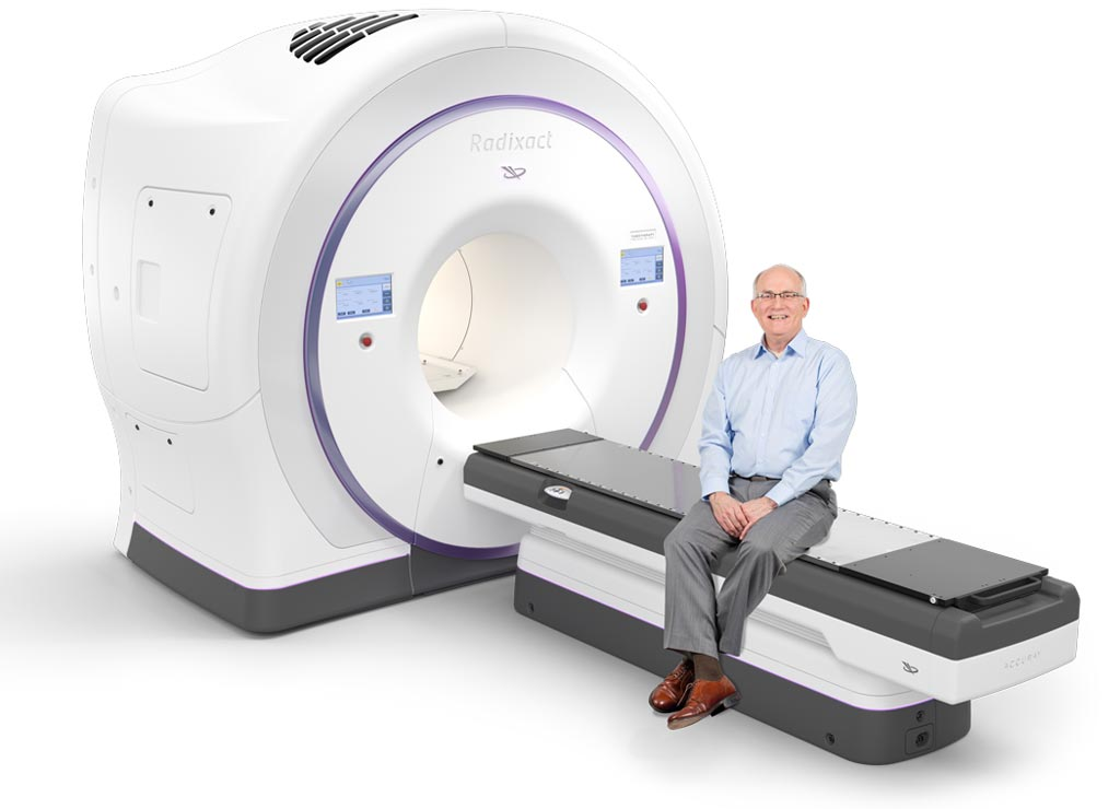 Image: The Radixact image guided, intensity modulated radiation therapy (IG-IMRT) system (Photo courtesy of Accuray).