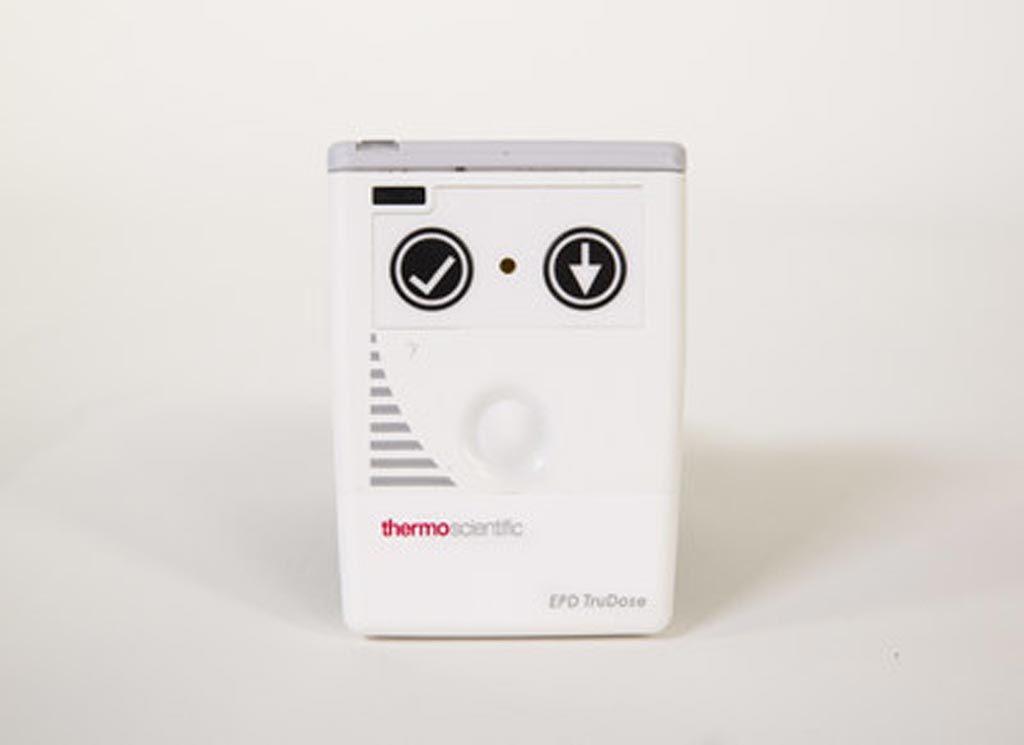 Image: The EPD TruDose electronic personal dosimeter (Photo courtesy of Thermo Fisher Scientific).