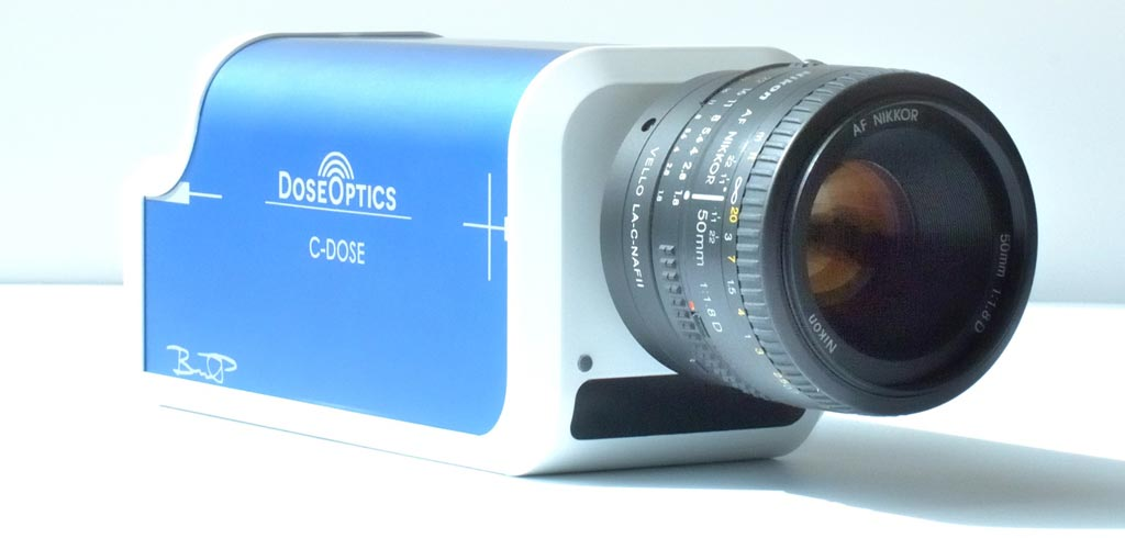 Image: A novel imaging system visualizes RT in real time (Photo courtesy of DoseOptics).