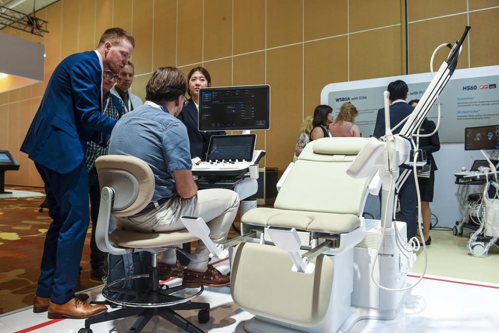 Image: The prototype HERA I10 chair-type ultrasound system (Photo courtesy of Samsung Medison).