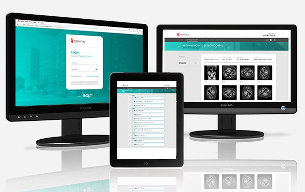 Image: A simple patient portal stores images and reports (Photo courtesy of Intelerad).
