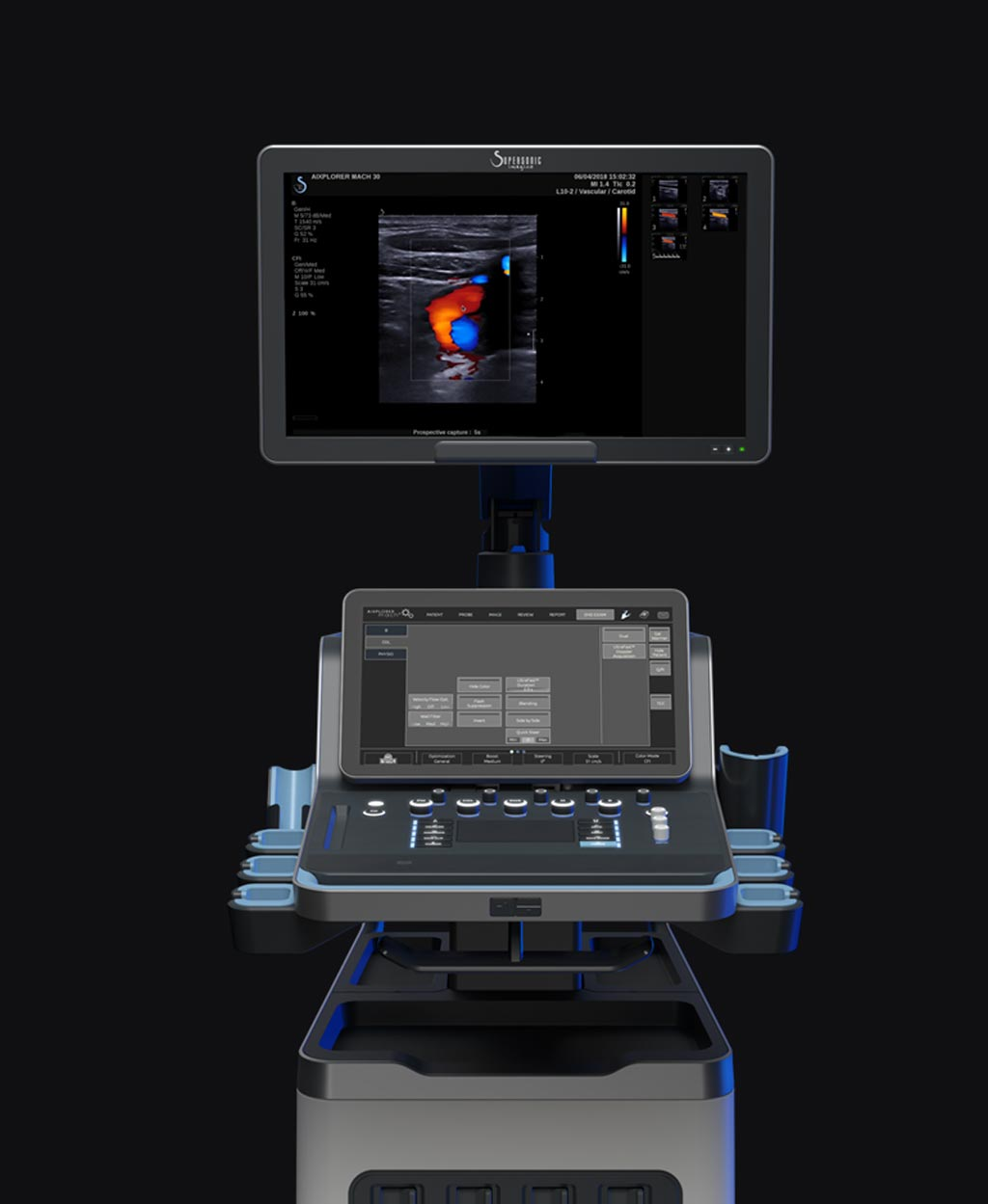 Image: The Aixplorer MACH 30 ultrasound system (Photo courtesy of SuperSonic Imagine).