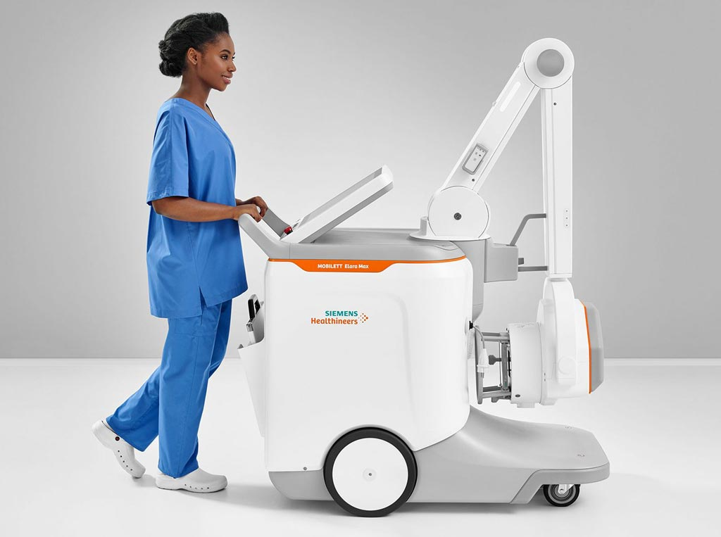 Image: The Mobilett Elara Max mobile x-ray system (Photo courtesy of Siemens Healthineers).