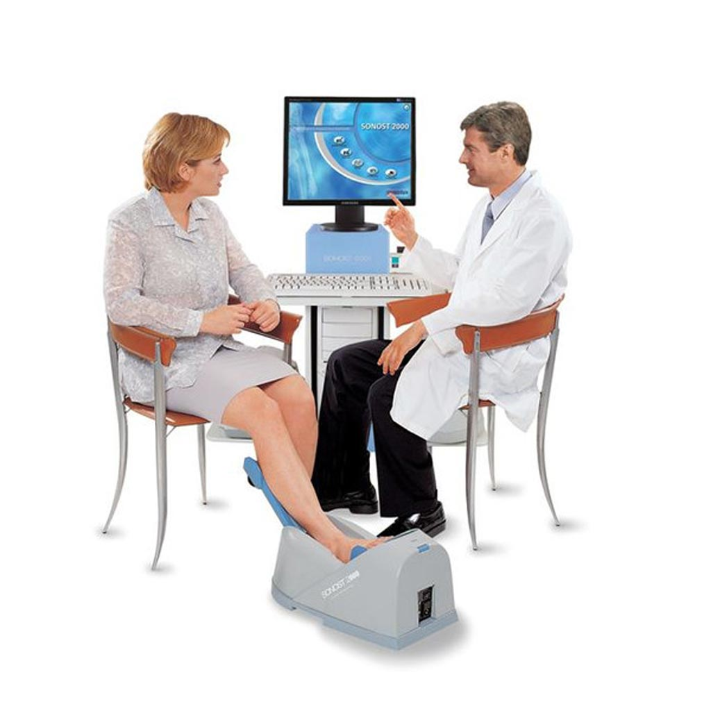 Image: The Sonost 2000 calcaneus ultrasound bone densitometer (Photo courtesy of Econet).