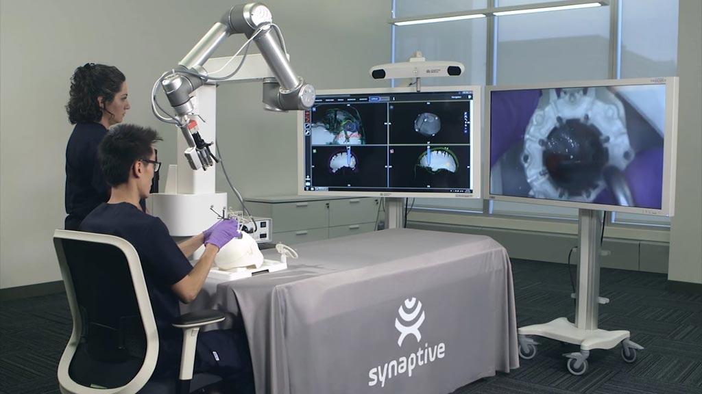 Image: The Synaptive Medical servo tactographic system (Photo courtesy of Synaptive Medical).