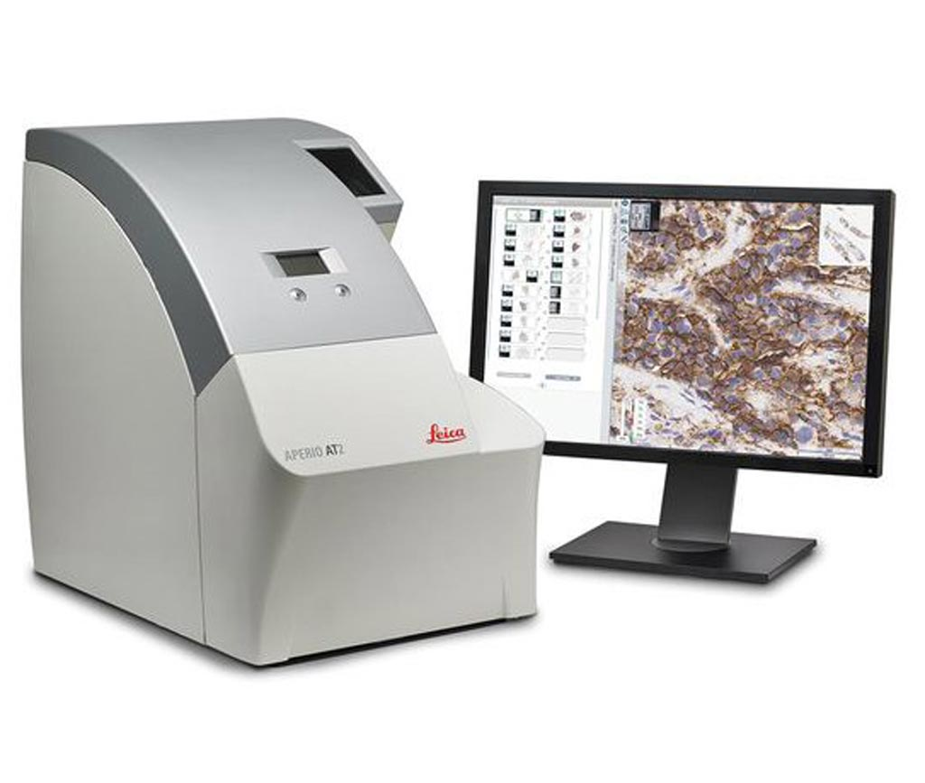 Image: The Aperio AT2 digital pathology scanner (Photo courtesy of Leica Biosystems).