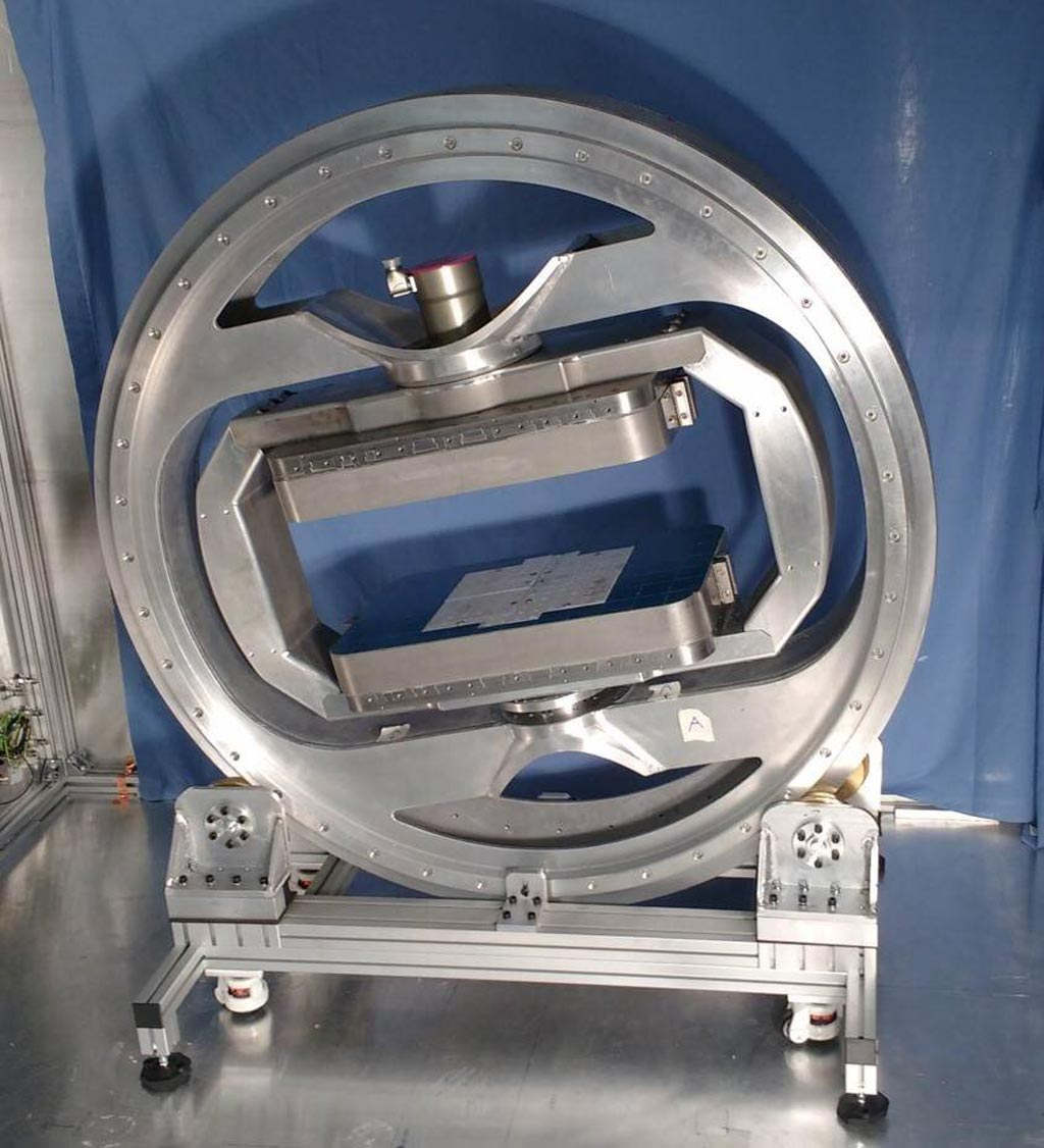 "Image: The prototype ""magic\"" MRI scanner (Photo courtesy of Imperial College London)."