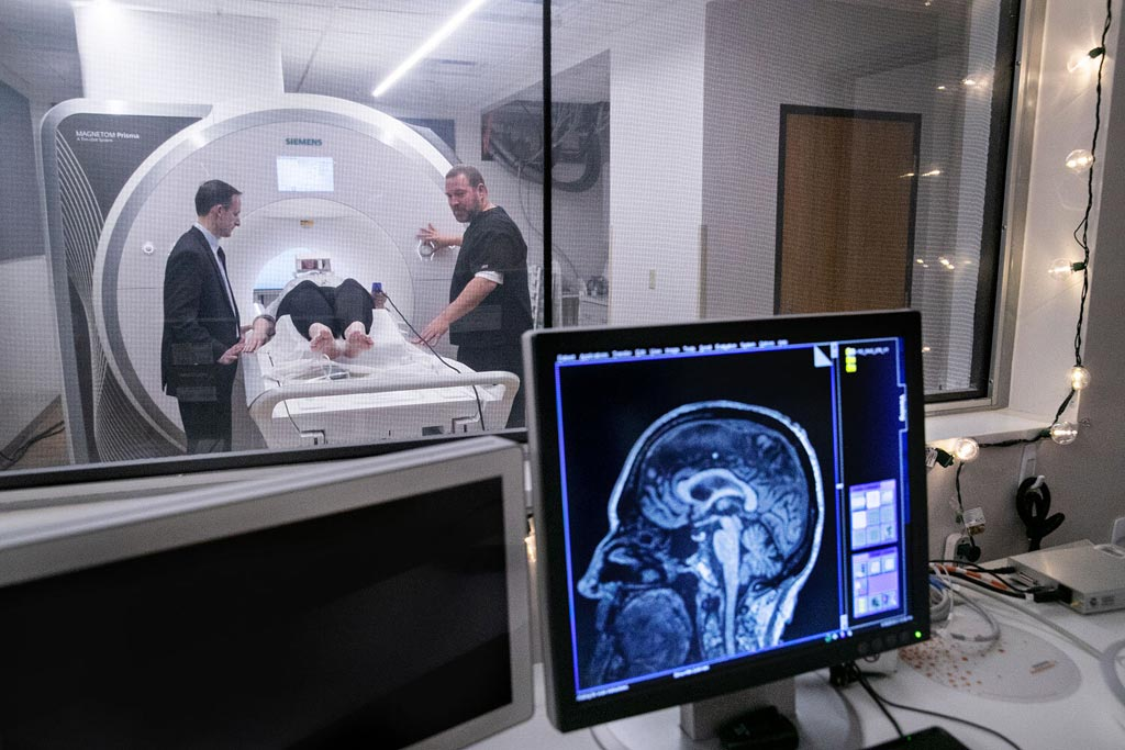 Image: A combination of MRI and clinical symptoms aids PD diagnosis (Photo courtesy of Aaron Daye/UF Advancement).