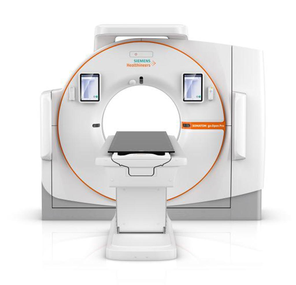 Image: The Somatom Go.Open Pro CT system (Photo courtesy of Siemens Healthineers).