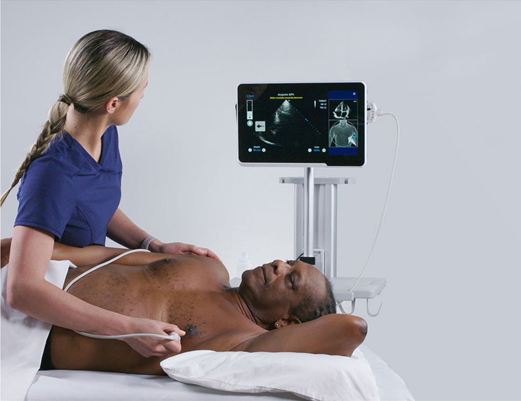 Image: Using Caption, a nurse can perform a cardiac ultrasound without prior experience(Photo courtesy of Caption Health)