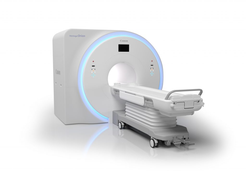 Image: The Canon Vantage Orian 1.5T MR system (Photo courtesy of Canon Medical Systems)