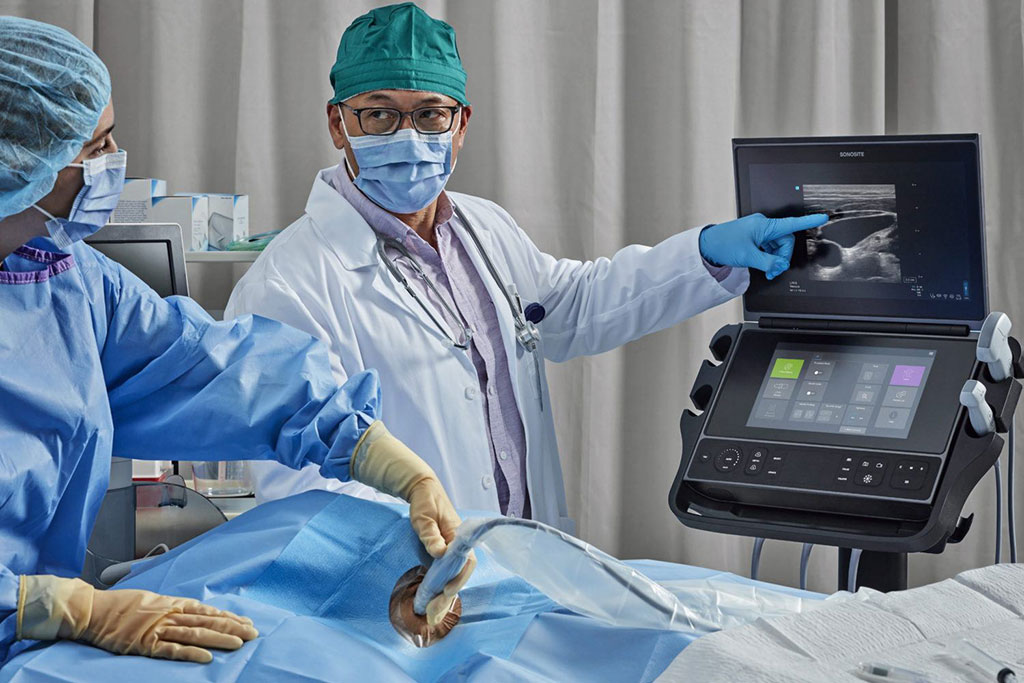 Image: The SonoSite PX ultrasound system at the point of care (Photo courtesy of Fujifilm SonoSite)