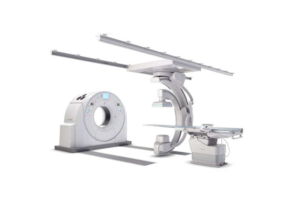 Image: The Alphenix Sky + system interventional X-ray platform (Photo courtesy of Canon Medical)